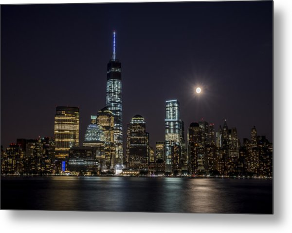Supermoon Metal Print