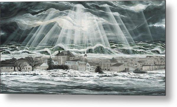 Superstorm Sandy Sea Bright Nj Metal Print by Ronnie Jackson