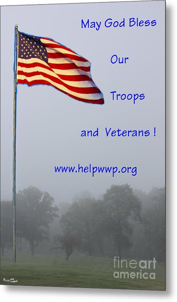 Support Our Troops And Veterans Metal Print