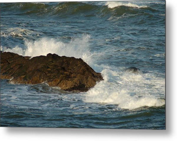 Surf And Rocks Metal Print