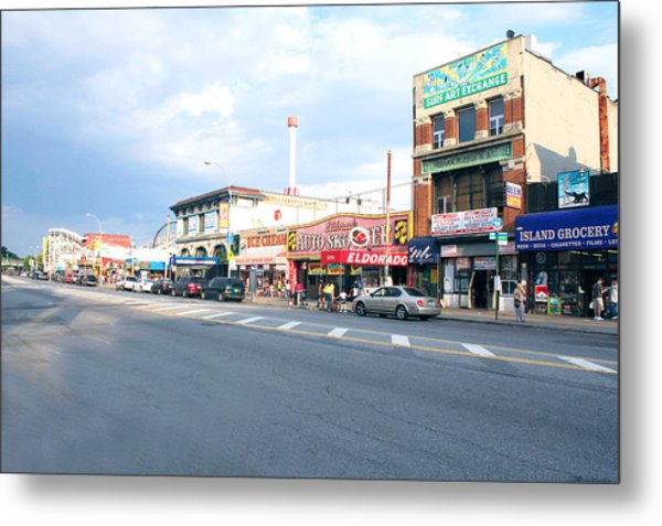 Surf Avenue In Coney Island Metal Print