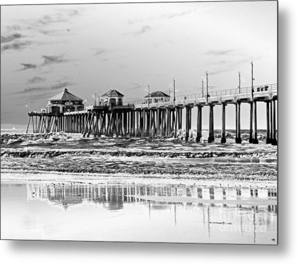Surf City U S A  Metal Print