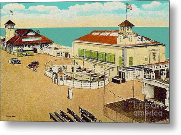 Surf Theatre And Seaview Pavilion At Salisbury Beach Ma 1937 Metal Print