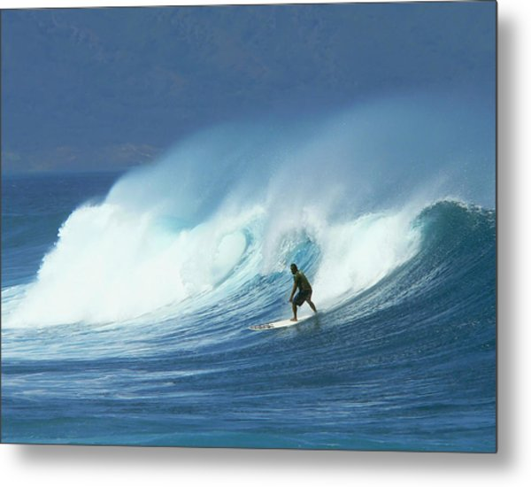 Surfer Catches A Good Ride Metal Print