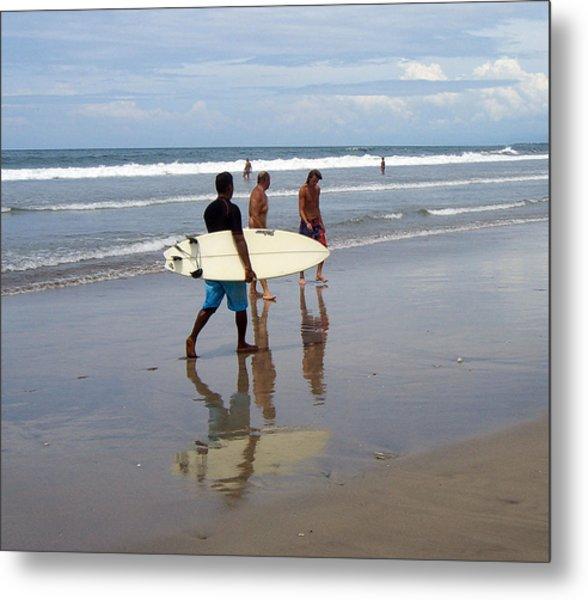 Surfer Reflection Metal Print by Jack Adams