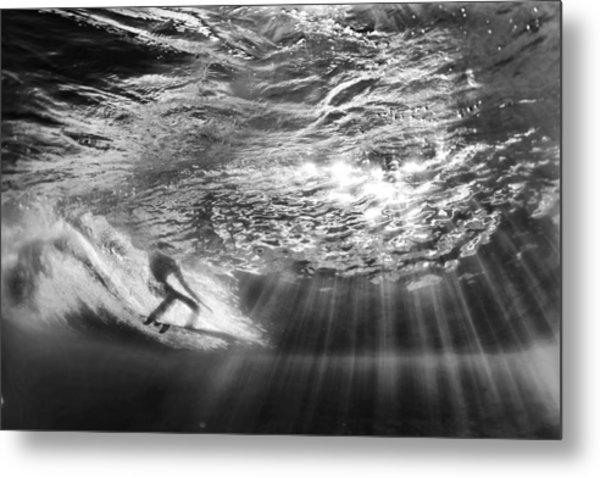 Surfing God Light Metal Print