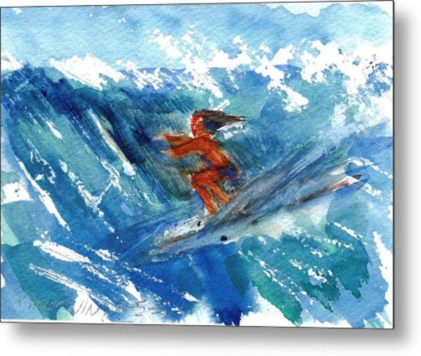 Surfing I Metal Print by Ramona Wright
