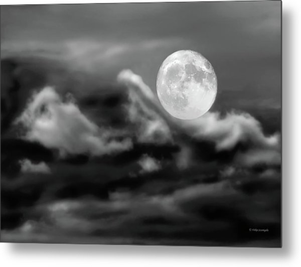 Surfing The Night  Metal Print