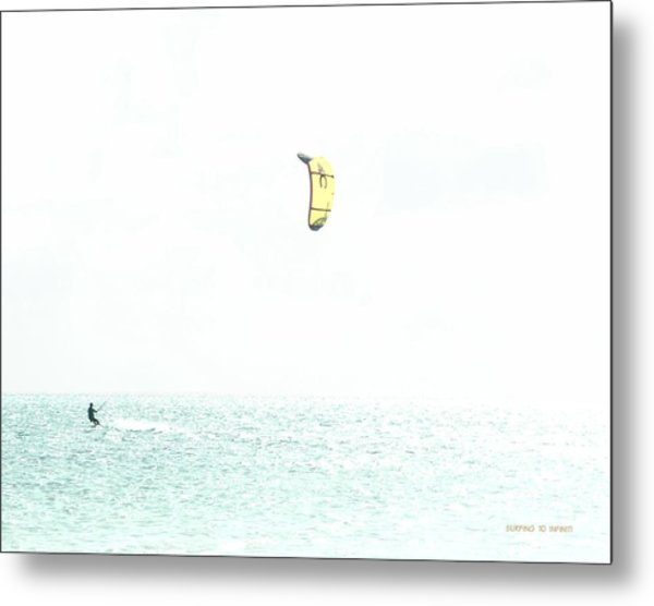Surfing To Infinity Metal Print