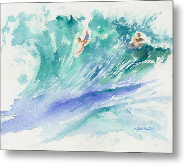 Metal Print featuring the painting Surf's Up by Lynn Buettner