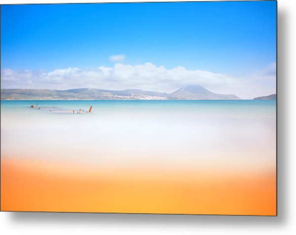 Golden Beach Metal Print
