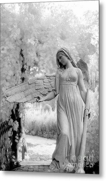 Surreal Dreamy Fantasy Infrared Angel Nature Metal Print