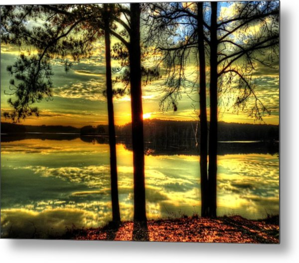 Surreal Lake Metal Print