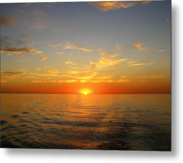 Surreal Sunrise At Sea Metal Print