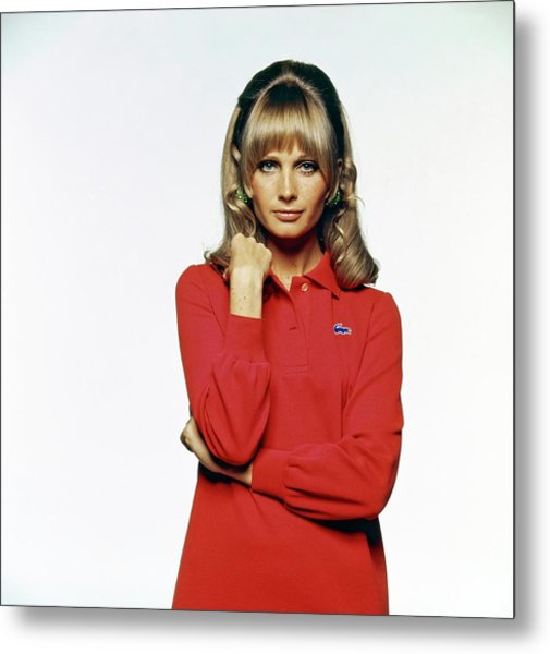 Susan Murray Wearing A Lacoste Dress Metal Print