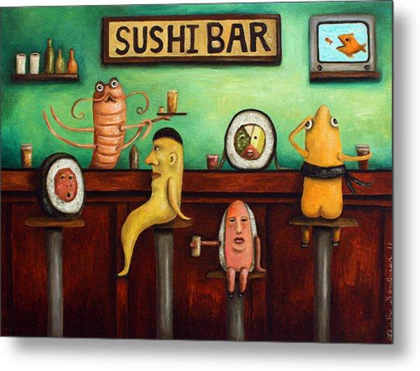 Sushi Bar Improved Image Metal Print