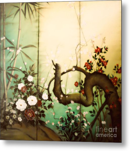 Sunshine In The Garden Metal Print