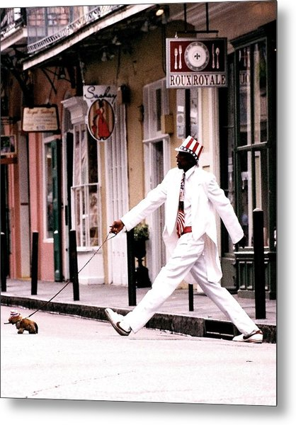 New Orleans Suspended Animation Of A Mime Metal Print
