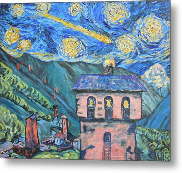 Svaneti Star Watchers I Metal Print