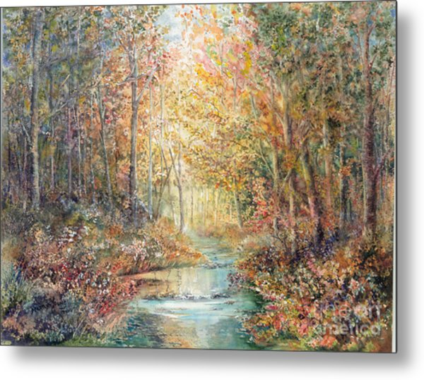 Swallows Creek Metal Print by Marilyn Young
