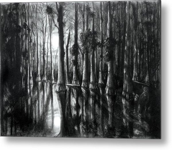 Swamp At Night Metal Print