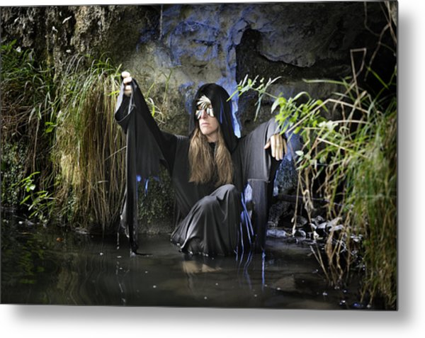 Swamp Hag In Blue Metal Print