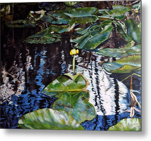 Swamp Lilly Metal Print