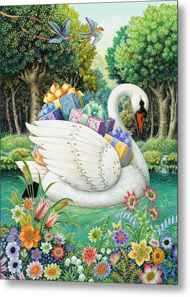 Swan Boat Metal Print