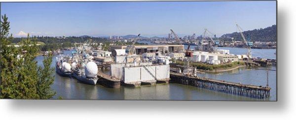 Swan Island Shipyard Panorama Metal Print