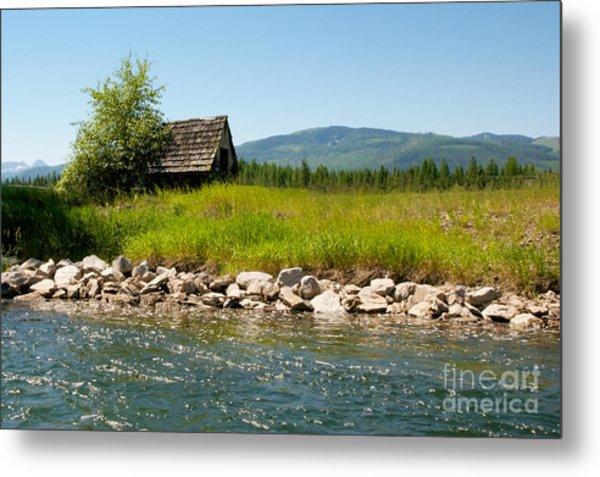 Swan River Cabin Metal Print