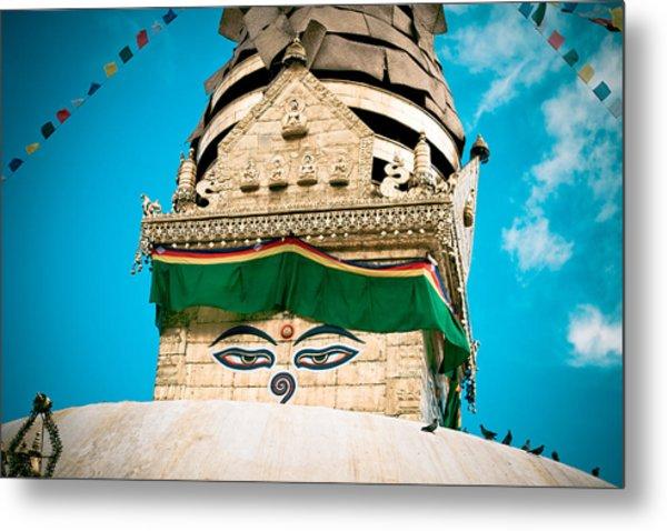 Swayambhunath Stupa In Nepal Metal Print