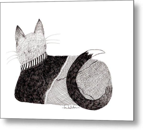 Sweater Cat Metal Print
