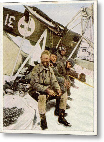 Swedish Aviator Lundborg, Who Metal Print by Mary Evans Picture Library