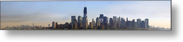 Sweeping Panorama Of New York City Before Sunset Metal Print