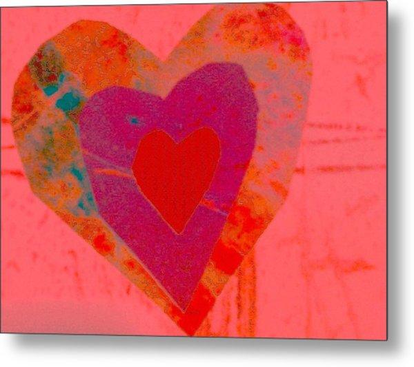 Sweet-candy-heart Metal Print by Dorothy Rafferty