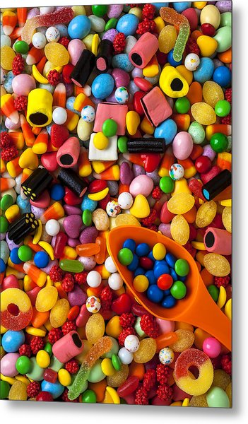 Sweet Candy With Scoop Metal Print