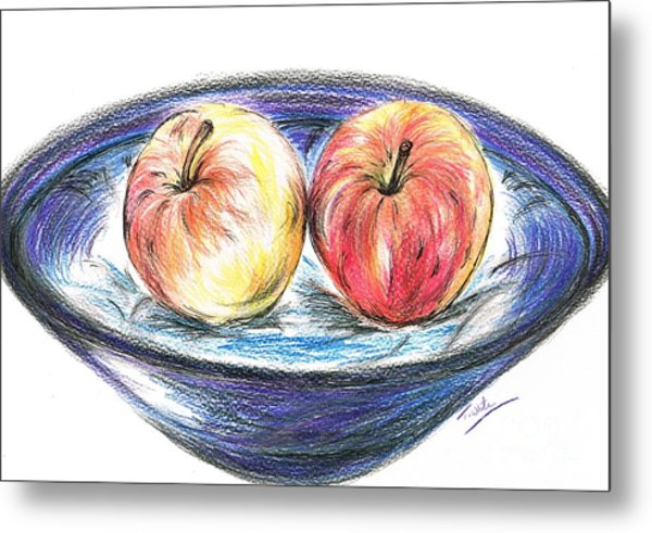 Sweet Crunchy Apples Metal Print