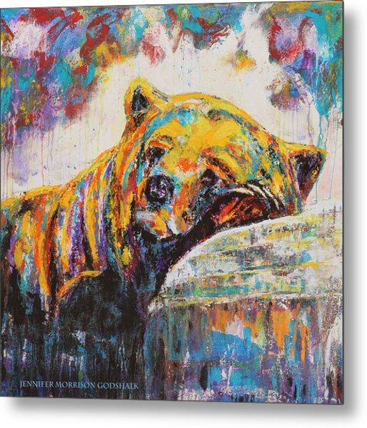 Sweet Dreams Bear Metal Print