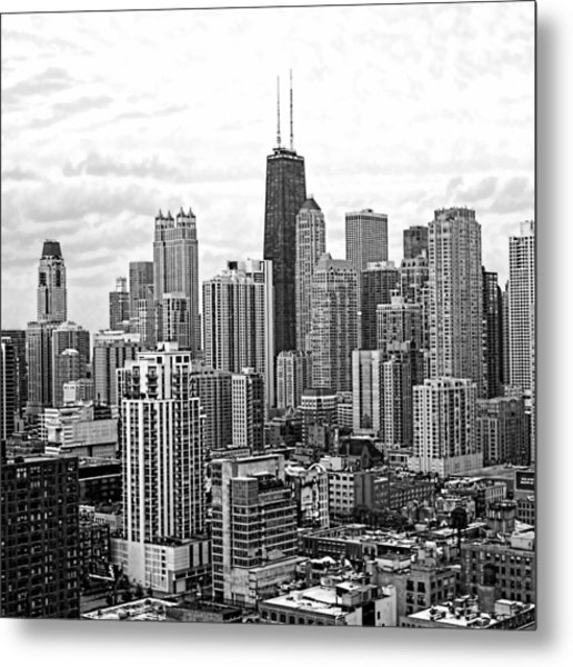 Sweet Home Chicago Bw Metal Print