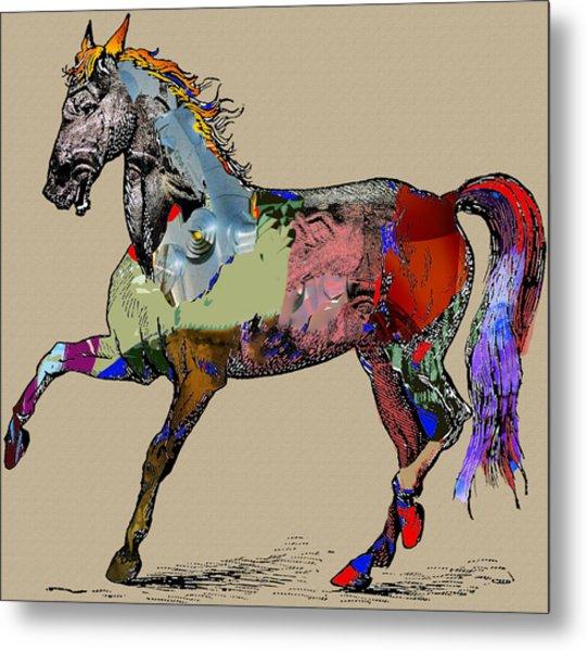 Sweet Horse Metal Print by Francis Erevan