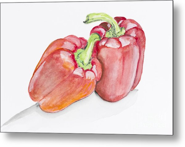 Sweet Red  Paprika Pepper Metal Print by Irina Gromovaja