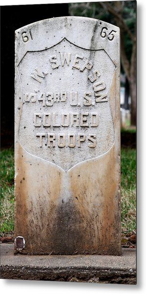 Swepson Tombstone 43rd U. S.  Colored Troops 2013 Metal Print