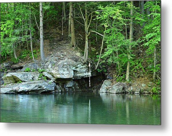 Swimming Hole At Rock Run Metal Print
