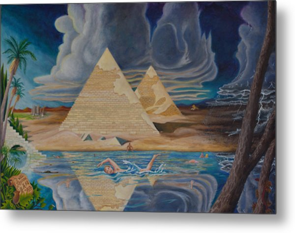 Swimming In That River In Egypt Metal Print