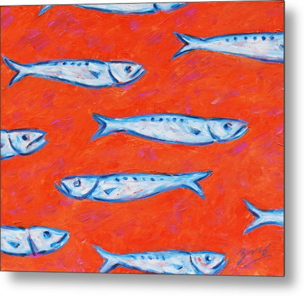 Swimming Upstream Metal Print