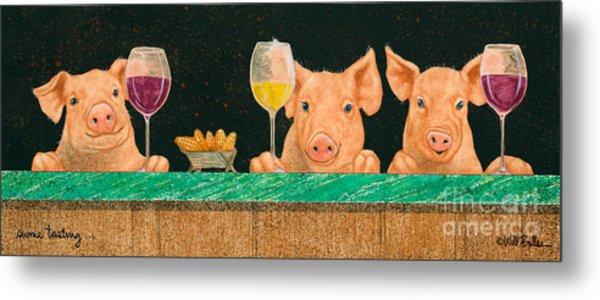 Swine Tasting... Metal Print