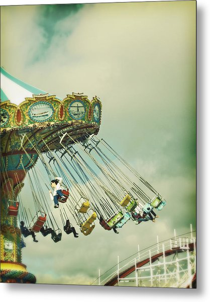 Swingin' - Santa Cruz Boardwalk Metal Print