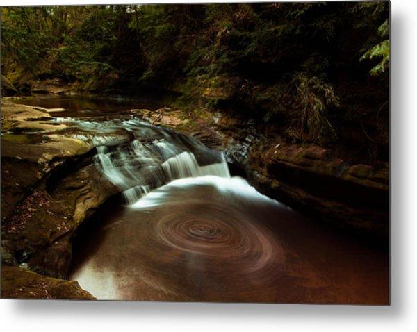 Swirling Water Metal Print