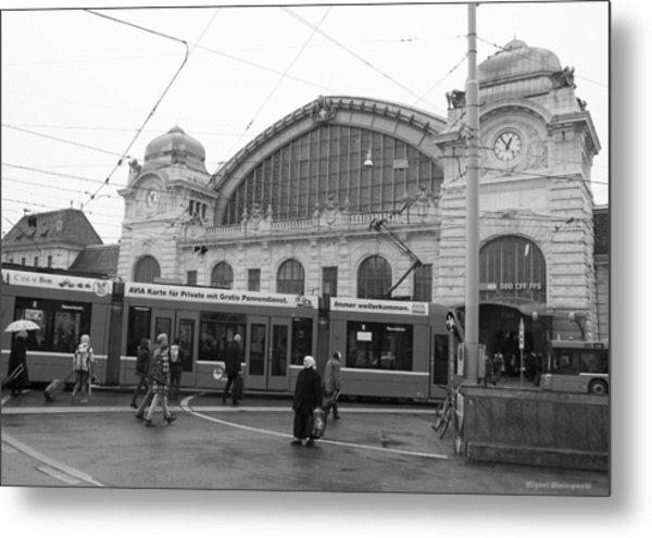 Swiss Railway Station Metal Print