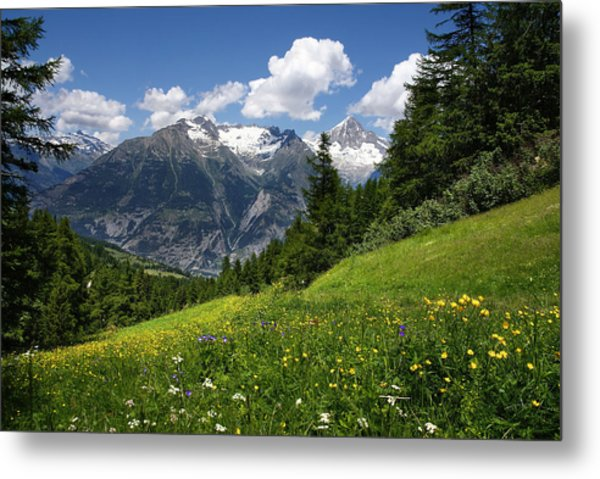 Switzerland Bietschhorn Metal Print